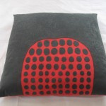 cushion: fabric, felt, organza, embroidery 70 x 70 x 8 cm / 2003