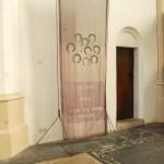 cotton + organza, lead, copper wire 300 x 100 cm / 2009