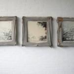 wood, leather, nails, photo 70 x 230 x 10 cm / 2002
