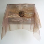copper, clay, wool, organza, embroidery 50 x 37,5 x 20 cm / 2005
