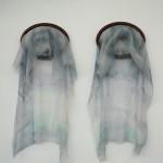 organza, felt, wood 55 x 48 x 1 cm / 2014
