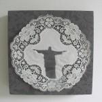fabric, lace 26 x 26 x 4 cm / 2005