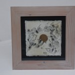 drawing in wooden frame ink, acrylic paint 30 x 30 x 1 cm / 2001