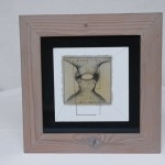 drawing in wooden frame ink, pencil, acrylic paint 30 x 30 x 1 cm / 2001