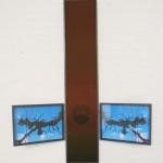 wood, organza, photo, glass 137 x 111 x 3,5 cm / 2008