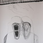 detail, drawing on paper: charcoal 200 x 73 cm / 2002