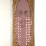organza, felt, wood 128 x 52,5 x 6 cm / 2008
