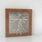 photo, wood, clay, glass 27 x 27 x 5 cm / 2006