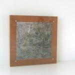 photo, wood, tallow, glass 27 x 27 x 5 cm / 2006